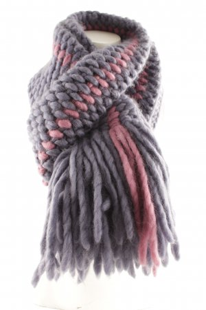 Knitted Scarf grey lilac-violet casual look