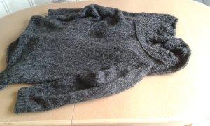 Strickschal, Grobstrickschal lang anthrazit/schwarz L240 cm B 20