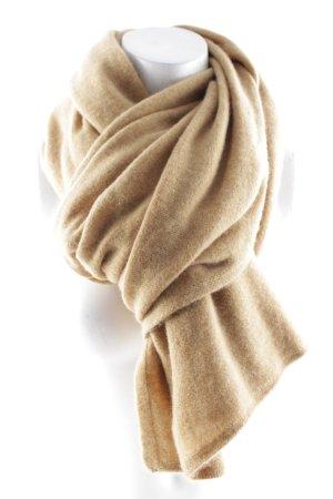 Gebreide sjaal lichtbruin casual uitstraling