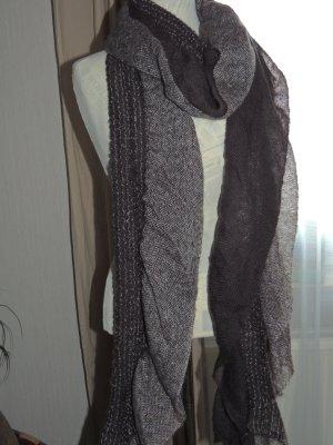 Écharpe en tricot multicolore laine
