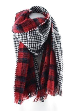 Gebreide sjaal geruite print college stijl