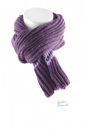 Knitted Scarf lilac-lilac striped pattern casual look