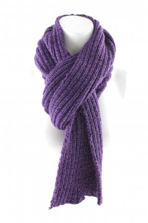 Knitted Scarf lilac wet-look