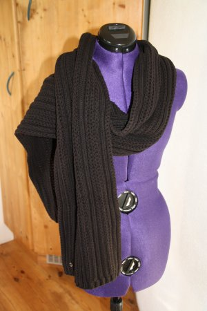 s.Oliver Premium Knitted Scarf black cotton