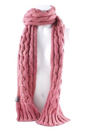 Strickschal pink Zopfmuster Casual-Look