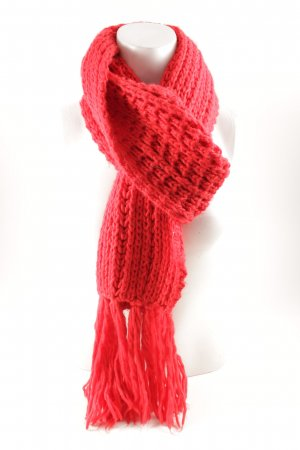Knitted Scarf red casual look