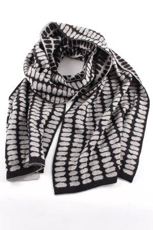 Strickschal schwarz-hellgrau grafisches Muster Casual-Look