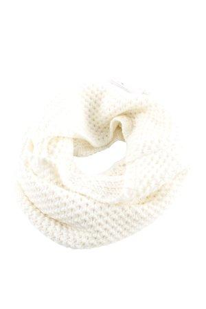 Écharpe en tricot blanc cassé style décontracté