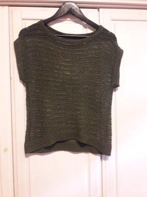 Camisa tejida gris verdoso