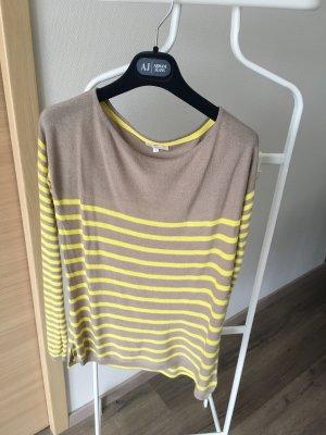 Manila Grace Camisa tejida beige-amarillo pálido
