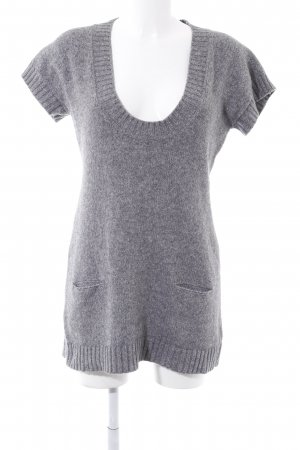 Strickshirt grau Casual-Look