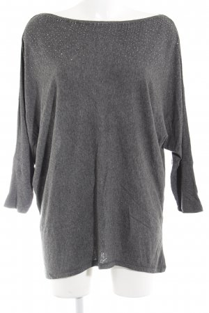 Strickshirt grau Glitzer-Optik