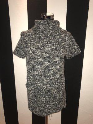 Camisa tejida gris antracita-blanco