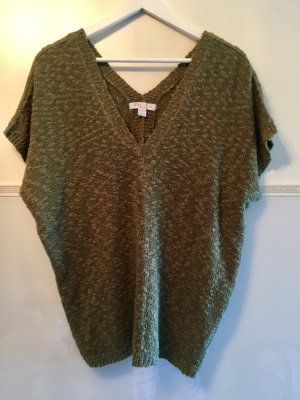 Amisu Oversized Shirt green grey-olive green wool