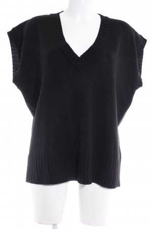Knitted Jumper black casual look