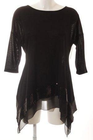 Camisa tejida negro elegante