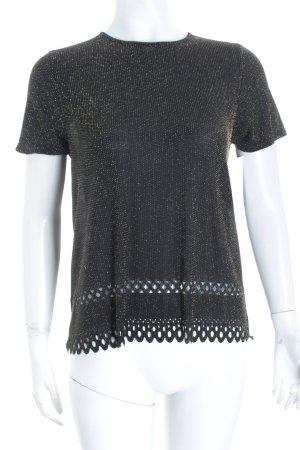 Strickshirt schwarz-goldfarben Glitzer-Optik