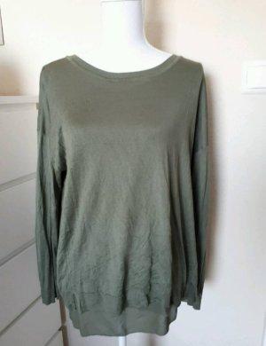 Strickshirt Shirt Bluse 2lagig