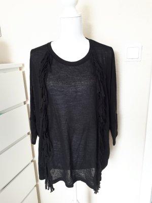 Strickshirt Shirt Strick Fransen