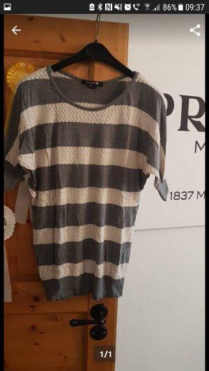 Forever 21 T-shirts en mailles tricotées gris-crème