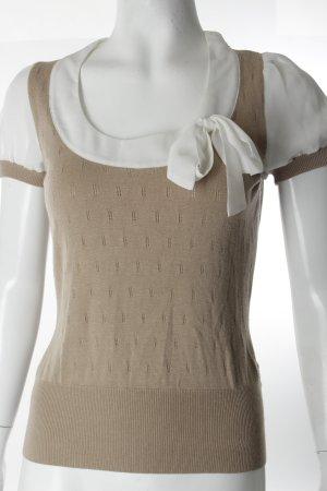Camisa tejida blanco-beige claro Paris-Look