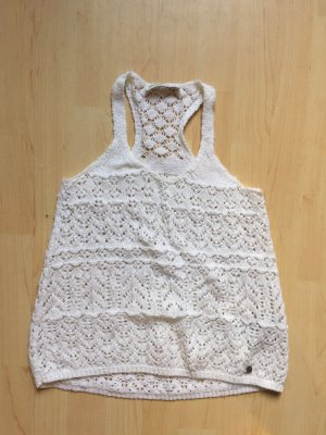 Abercrombie & Fitch Crochet Top white-natural white