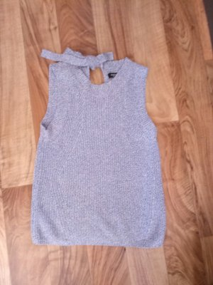 Mango Knitted Top light blue