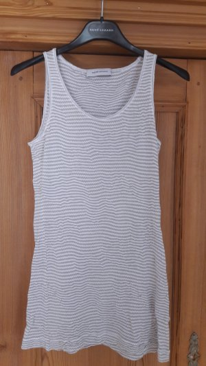 René Lezard Top lavorato a maglia bianco-grigio chiaro Viscosa