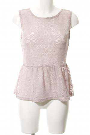 Knitted Top dusky pink loosely knitted pattern casual look
