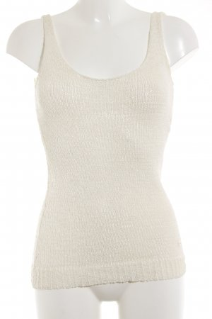 Knitted Top cream-oatmeal casual look