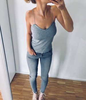 Knitted Top light grey-grey