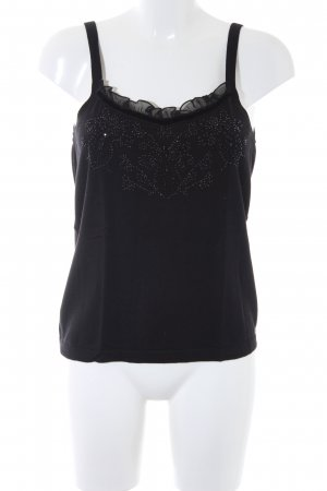 Knitted Top black casual look