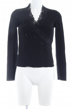 Knitted Top black elegant