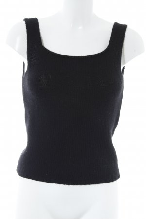 Knitted Top black simple style