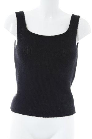 Haut tricotés noir style simple