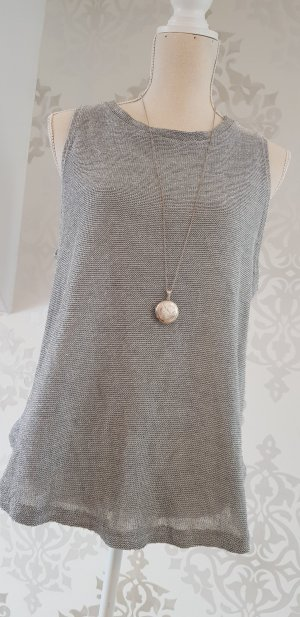 Zara Trafaluc Top met spaghettibandjes zilver-lichtgrijs