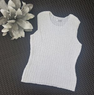 Savannah Knitted Top white mixture fibre