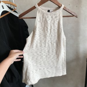 H&M Knitted Top cream-natural white