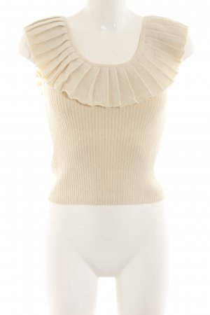 Knitted Top natural white beach look