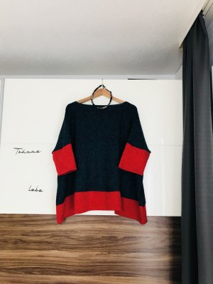 1.2.3 Paris Oversized Sweater petrol-red