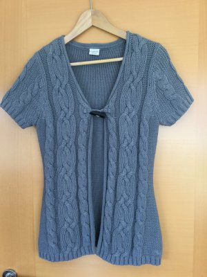 Esprit Short Sleeve Knitted Jacket grey cotton