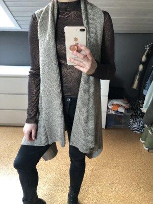 H&M Smanicato lavorato a maglia marrone-grigio