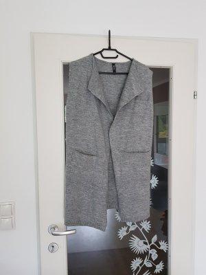 Takko Knitted Vest light grey-grey