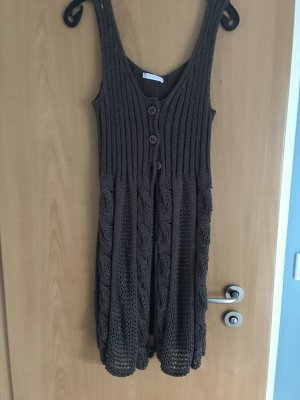Knitted Vest dark brown