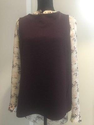 Opus Gilet tricoté bordeau-brun rouge