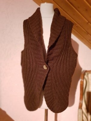 Vera Varelli Knitted Vest bronze-colored