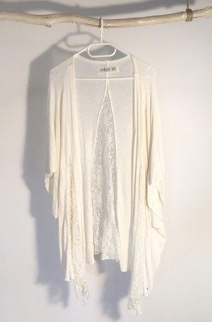 Abercrombie & Fitch Gilet tricoté blanc cassé-crème