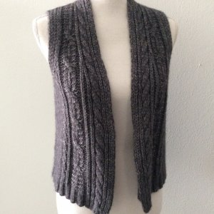 Best Connections Knitted Vest dark grey-light grey