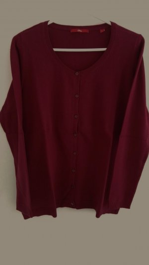 s.Oliver Knitted Vest bordeaux cotton