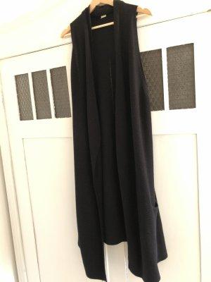 H&M Divided Long Knitted Vest black